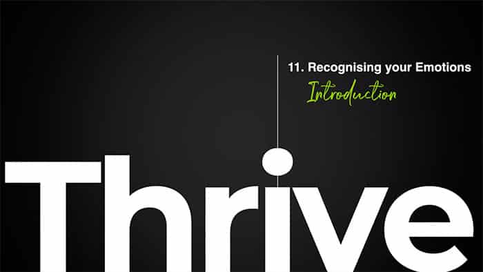 Thrive class 11 - Recognising your Emotions
